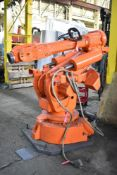 ABB IRB 6400 FOUNDRY PLUS 6 AXIS INDUSTRIAL ROBOT WITH ABB CONTROL AND TEACH PAD, S/N: 6400-0795 (