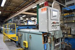 GERLACH (3) ZONE CURING OVEN, APPROX. 118' RUN WITH (3) CONTROL STATIONS AND ALLEN-BRADLEY PANELVIEW