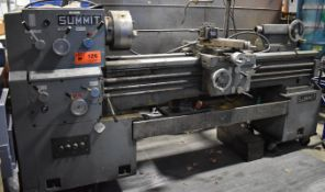 """SUMMIT GAP BED ENGINE LATHE WITH 20"""" SWING OVER BED, 62"""" BETWEEN CENTERS, SPEEDS TO 1500 RPM, 12"""""""