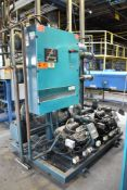 BERG ASR-70-1/2 SKID MOUNTED INDUSTRIAL CHILLER WITH 70 TON CAPACITY, 76 HP, BERG SC5 PLC CONTROL,