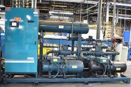 BERG AQR-160-2/2 SKID-MOUNTED INDUSTRIAL CHILLER WITH 160 TON CAPACITY, 178 HP, BERG SC6 TOUCH-