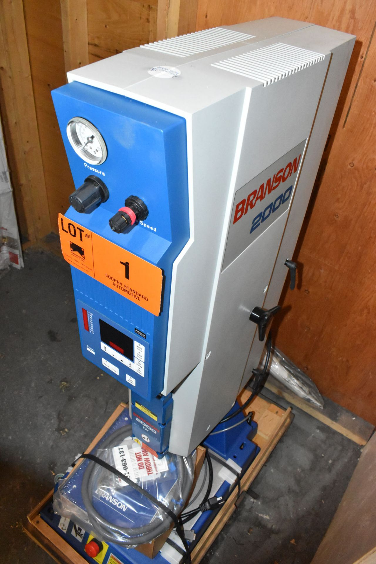BRANSON (2006) 2000IW INTEGRATED ULTRASONIC PLASTIC WELDER WITH 1200W, S/N: WLA06046695 (BRAND - Image 3 of 6