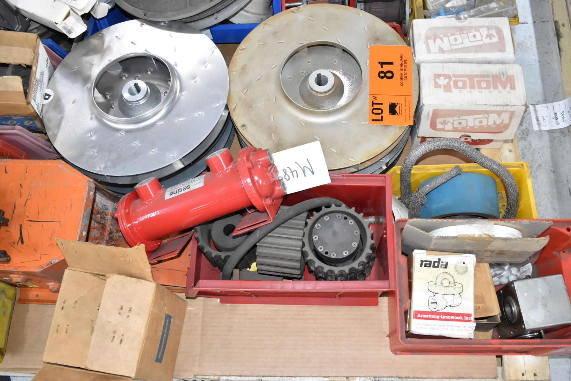LOT/ PALLET WITH CONTENTS CONSISTING OF REELS, CHAIN, AND EXTRUDER LINE COMPONENTS - Image 3 of 3