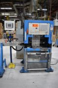 SMC MODEL 1052 IN-LINE CUTTER MACHINE WITH APPROX. 40FPM FEED RATE, S/N: 1052-40804 (CI)