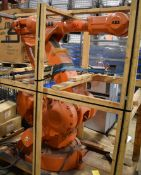 ABB (2006) IRB 4400 FOUNDRY PLUS 6 AXIS INDUSTRIAL ROBOT WITH ABB IRC5 CONTROL & TEACH PAD, S/N: