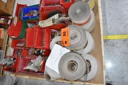 LOT/ PALLET WITH CONTENTS CONSISTING OF BELTS, CHAIN, FITTINGS, AND EXTRUDER LINE COMPONENTS