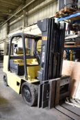 """CATERPILLAR T125D LPG FORKLIFT WITH 12,500 LB. CAPACITY, 177"""" MAX. LIFT HEIGHT, 3 STAGE MAST, SIDE"""