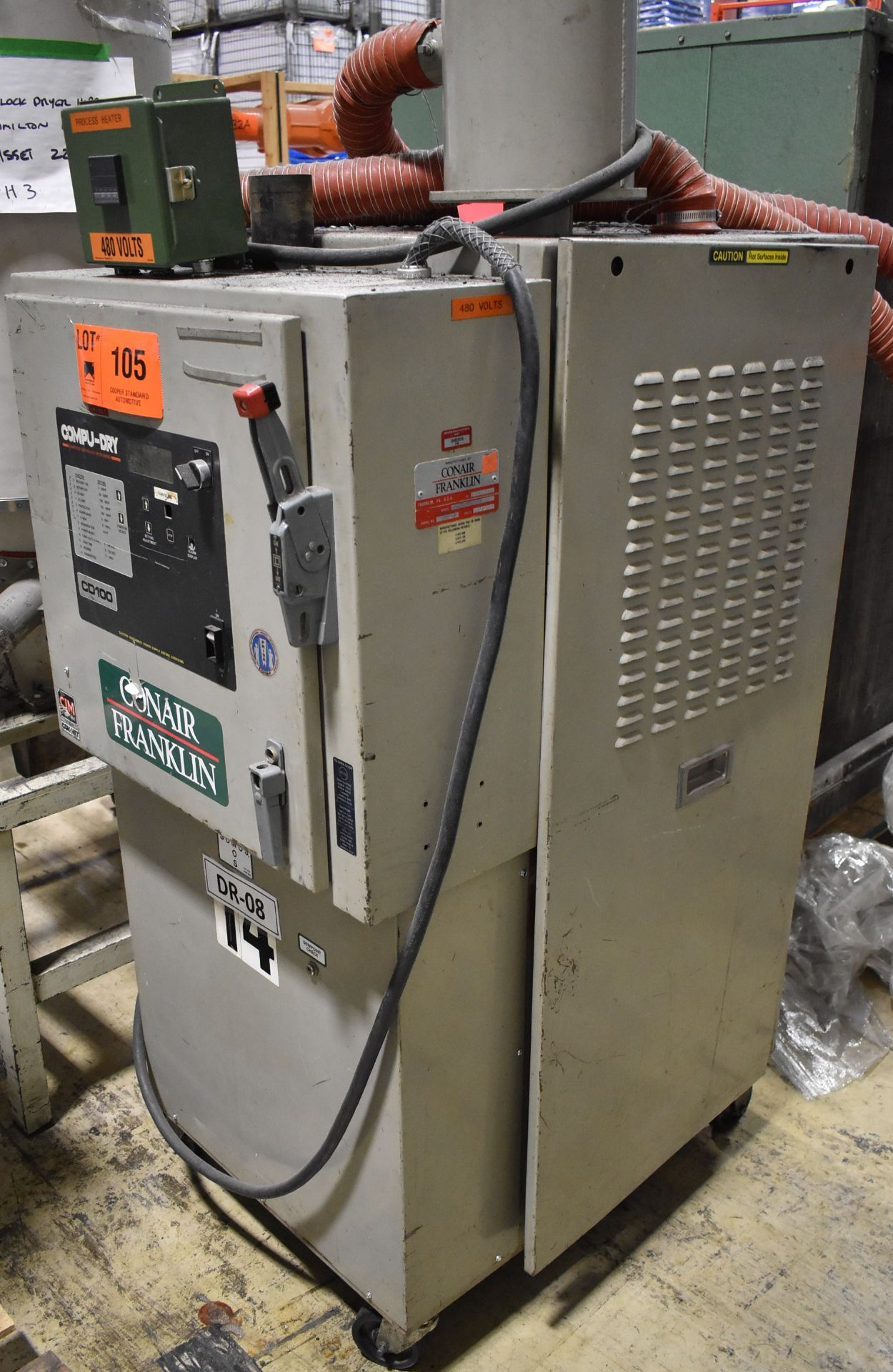 CONAIR D01H4001B10A DEHUMIDIFYING DRYER, S/N: 9D1384 (LOCATED IN BRAMPTON, ON) [RIGGING FEES FOR LOT - Image 2 of 4