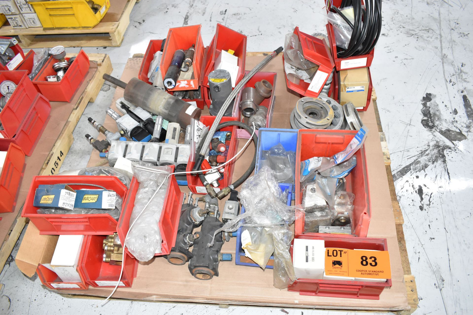LOT/ PALLET WITH CONTENTS CONSISTING OF EXTRUDER LINE COMPONENTS [RIGGING FEES FOR LOT #83 - $50 CAD