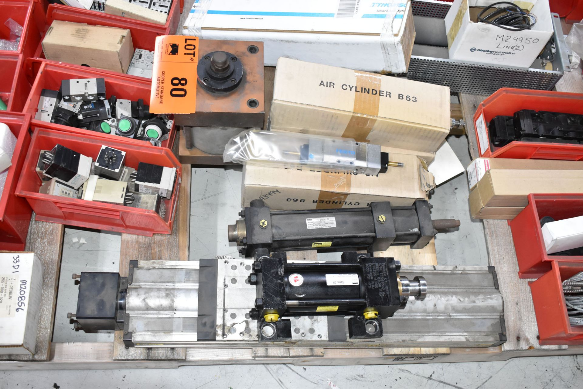LOT/ PALLET WITH CONTENTS CONSISTING OF BEARINGS, CYLINDERS, AND EXTRUDER LINE COMPONENTS - Image 3 of 5