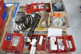 LOT/ PALLET WITH CONTENTS CONSISTING OF FITTINGS, HARDWARE, AND EXTRUDER LINE COMPONENTS