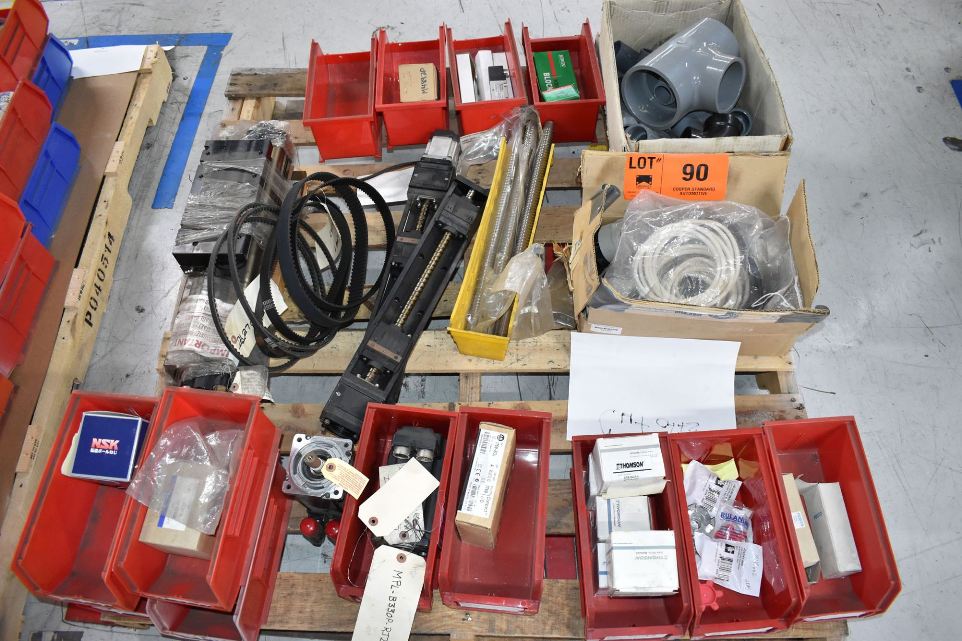 LOT/ PALLET WITH CONTENTS CONSISTING OF FITTINGS, HARDWARE, AND EXTRUDER LINE COMPONENTS [RIGGING