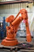 ABB IRB 6400 FOUNDRY PLUS 6 AXIS INDUSTRIAL ROBOT, S/N: 64-21624 (CI) (LOCATED IN CAMBRIDGE