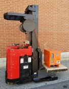 "RAYMOND R40TT 24V ELECTRIC REACH TRUCK WITH 4000 LB. CAPACITY, 226"" MAX. LIFT HEIGHT, BATTERY"