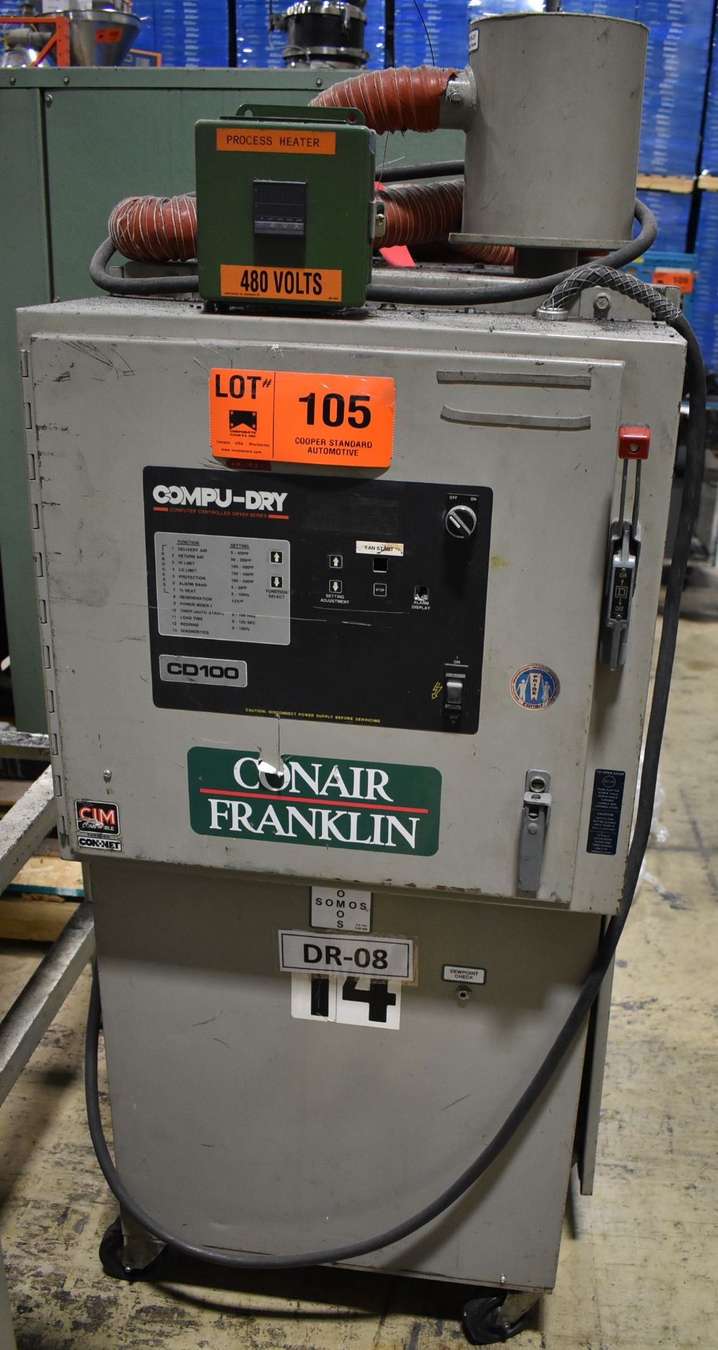 CONAIR D01H4001B10A DEHUMIDIFYING DRYER, S/N: 9D1384 (LOCATED IN BRAMPTON, ON) [RIGGING FEES FOR LOT