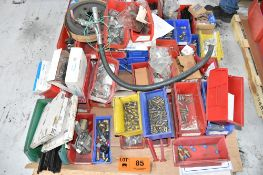 LOT/ PALLET WITH CONTENTS CONSISTING OF HARDWARE, FITTINGS, AND EXTRUDER LINE COMPONENTS