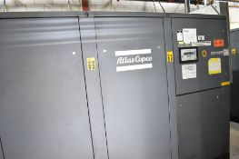 ATLAS COPCO GA160W 200 HP ROTARY SCREW AIR COMPRESSOR WITH APPROX. 36,273HOURS (RECORDED ON