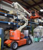 JLG E45A ARTICULATING BOOM LIFT WITH 500 LB. PLATFORM CAPACITY, 45' MAX. PLATFORM HEIGHT, S/N: