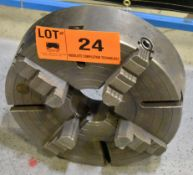 "18"" 4 JAW CHUCK [RIGGING FEES FOR LOT #24 - $25 USD PLUS APPLICABLE TAXES]"