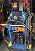 MILLER (2006) XMT 350 MIG WELDER WITH MILLER 70 SERIES WIRE FEEDER, CABLES & GUN, S/N: LG040205A (NO