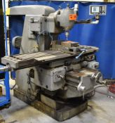 "TOS FA4A VERTICAL MILLING MACHINE WITH 62"" X 14"" TABLE, SPEEDS TO 1400 RPM, 10 HP, FAGOR 3 AXIS DRO,"