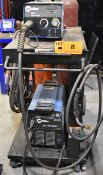 MILLER XMT 350 MIG WELDER WITH MILLER 22A WIRE FEEDER, CABLES & GUN, S/N: N/A [RIGGING FEES FOR
