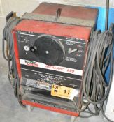LINCOLN ELECTRIC DIALARC 250 ARC WELDER WITH CABLES & GUN, S/N: N/A [RIGGING FEES FOR LOT #11 - $