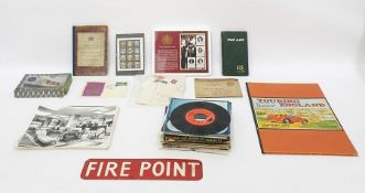 Assorted ephemera to include Genealogical Handbook of English History showing dynasties of all the
