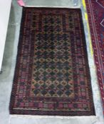 Vegetable dye wool chobi kelim, 143cm x 83cm