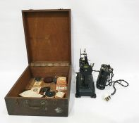 Alef Privat pathescope in box with collection of 9.5mm short films of early Mickey Mouse and others