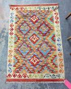 Vegetable dye wool chobi kelim, 121cm x 79cm
