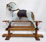 20th century fully restored platform rocking horse