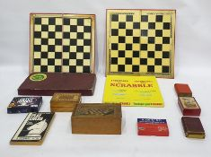 Assorted child's games to include Scrabble, etc (1 box)