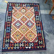 Vegetable dye wool chobi kelim, 145cm x 104cm