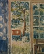 Noel Gilford Adeney (1890 - 1978) watercolour 'View into the garden, West Wittering', together