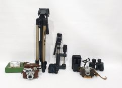 One box of assorted camera equipment to include: Comet S Fil 127 camera, Kodak Retinette IB