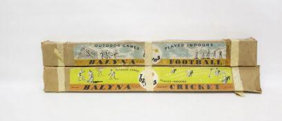 Circa 1940's Balyma indoor cricket game and indoor football game,boxed (2)