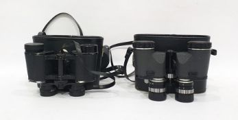 Pair of 8 x 30 field binoculars and a pair of Commodore binoculars (2)