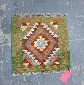 Vegetable dye wool chobi kelim, 49cm x 50cm