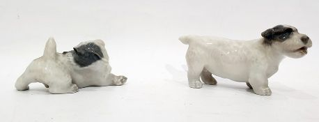 Royal Copenhagen modelof a terrier, no.1452/3085 and anothermarked 1452/3087 (2) Condition