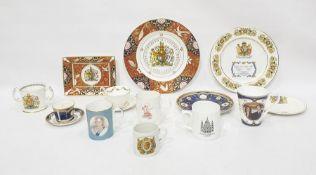 Royal Worcester commemorative porcelain plate, ERII 2007 Diamond Wedding Anniversary, quantity of