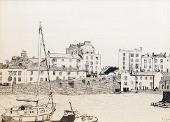 After R G Freer Limited edition print Dock Scene