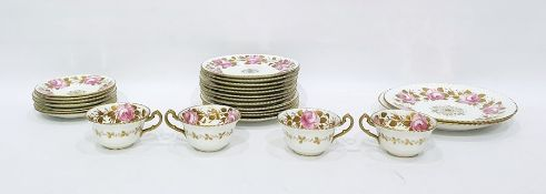 Radford Fenton 'Pretty in pink' pattern part tea service to include tea cups, saucers, plates,