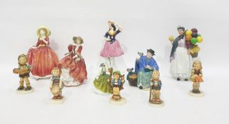 """Royal Doulton figure """"Top o' the Hill"""", HN 1834, four other Royal Doulton figures, Staffordshire"""