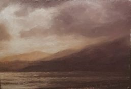 "Matthew Draper (1973 -  ) Pastel on paper ""Westward, Loch Gynach, Diptych Part II"", 2006, 15cm x"
