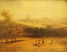 19th Century School Modern oleograph print Landscape scene