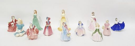 """Royal Doulton porcelain figure """"Tinkle Bell"""", HN 1677, 12cm high, another """"Lydia"""", another """"Dinky"""