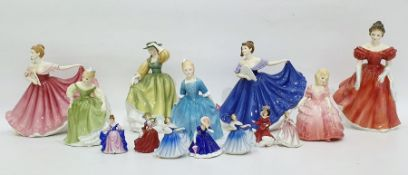 """Royal Doulton china figure """"Winsome"""",HN 2220, and a quantity of Doulton and other ceramic figures"""