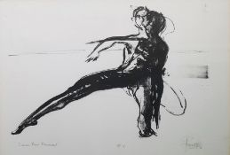 John W Hill (?) Artists proof print Sinner Man Movement, study of figure, 37cm x 54cm