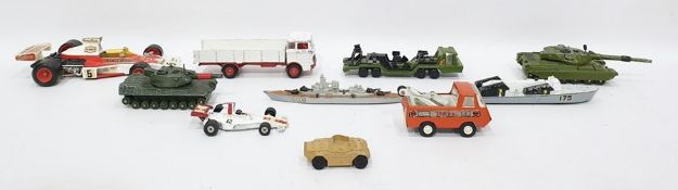 Box of assorted model vehicles to include Dinky To